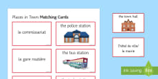 Places in Town Matching Cards