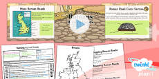 History: Romans: Roman Roads LKS2 Lesson Pack 2