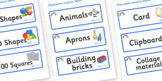 Rainbow Themed Editable Classroom Resource Labels
