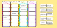 2014 Curriculum Year 4 Maths Target Bookmarks