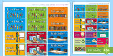 Classroom Jobs Display Labels