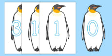 0-30 Numbers On Penguins