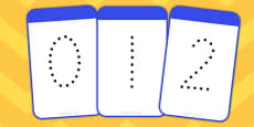 Number Digit Cards (Dots) 0-30