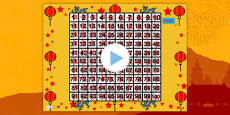 Chinese New Year Themed 100 Number Square PowerPoint