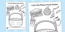Little Red Riding Hood Basket Colouring Activity