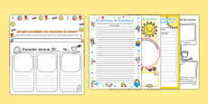 KS1 First Day Back Activity Pack Spanish