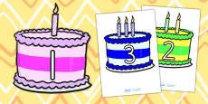 Numbers 0 10 on Birthday Cakes - Australia