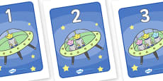 1-5 Display Numbers (Five Little Men In A Flying Saucer)