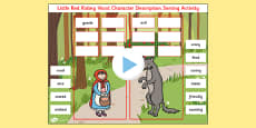 Little Red Riding Hood Character Description Sorting Activity PowerPoint