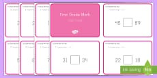 Common Core First Grade Math NBT B 3 Task Cards
