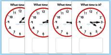 Clock Matching Game - Quarter Past