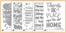 Mindfulness Quotes Colouring Sheets