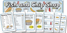 Fish And Chip Shop Role Play Pack