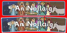 Christmas Display Banner Gaeilge