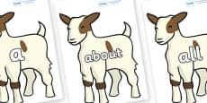 100 High Frequency Words on Baby Goats