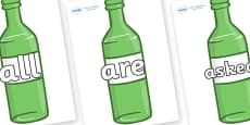 Tricky Words on Green Bottles