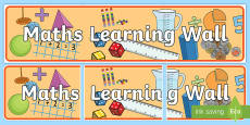 Maths Learning Wall Display Banner