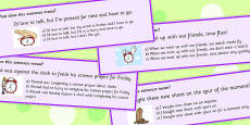 Time Idioms Multiple Choice Cards