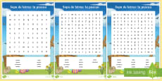 Easter Words Differentiated Word Search
