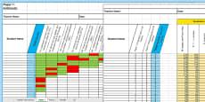 KS1 Mathematics Analysis Grid for 2016 SATs Sample Paper Assessment Spreadsheet