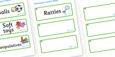 Cypress Tree Themed Editable Additional Resource Labels