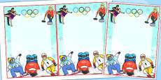 Winter Olympics Editable Notes - Australia