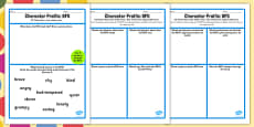 Character Profile Activity Sheet to Support Teaching on The BFG