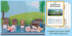 Goldilocks and the Three Bears Storytelling Shelf Printable Resource Pack