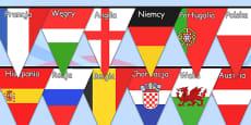 Euro 2016 Country Flag Bunting Polish