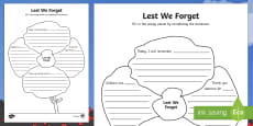 Lest We Forget Poppy Activity Sheet