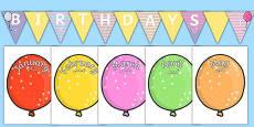 Balloon-Themed Birthday Display Pack Arabic Translation