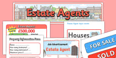 Estate Agents Role Play Pack