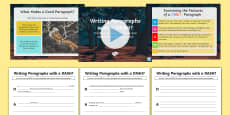 Writing Paragraphs with a DASH?: Creating Tension, Suspense and Atmosphere in Mystery Paragraphs Resource Pack