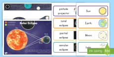 * NEW * Solar Eclipse Bulletin Board Pack
