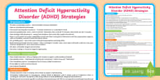 ADHD Support Strategies Display Poster