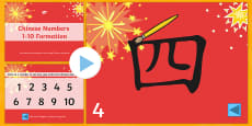 Chinese New Year Number Formation PowerPoint