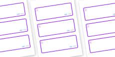 Hercules - Star Constellation Themed Editable Drawer-Peg-Name Labels (Blank)