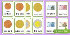 Airgead Flashcards Gaeilge