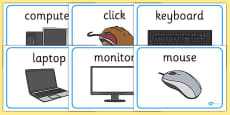 ICT Area Display Word Posters