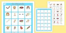 My Body Vocabulary Matching Mat German