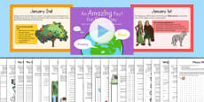 Amazing Fact a Day January Activity Pack