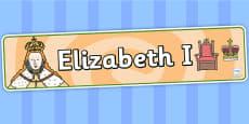Elizabeth I Display Banner