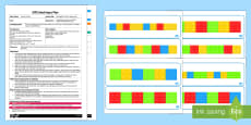 EYFS Building Block Colour Sequencing Adult Input Plan and Resource Pack
