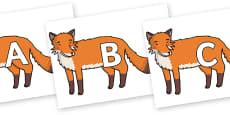 A-Z Alphabet on Gingerbread Man Fox