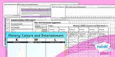 History: Leisure and Entertainment UKS2 Unit Assessment Pack