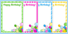 5th Birthday Party Editable Poster