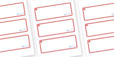 Maple Themed Editable Drawer-Peg-Name Labels (Blank)