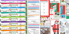 EYFS Christmas Themed Lesson Plan Enhancement Ideas and Resources Pack