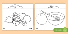 Rosh Hashanah Colouring Pages