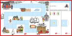Christmas Postman Board Game to Support Teaching on The Jolly Christmas Postman